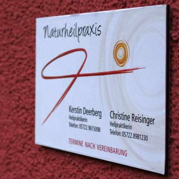 Praxisschild Osteopathie Reisinger